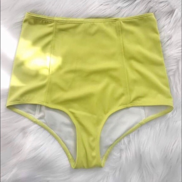 47803dd0fd215 Kortni Jeane Swim | Kiwi Color Highwaisted Bottoms | Poshmark